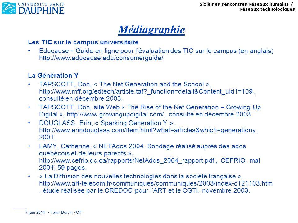 Médiagraphie Les TIC sur le campus universitaite