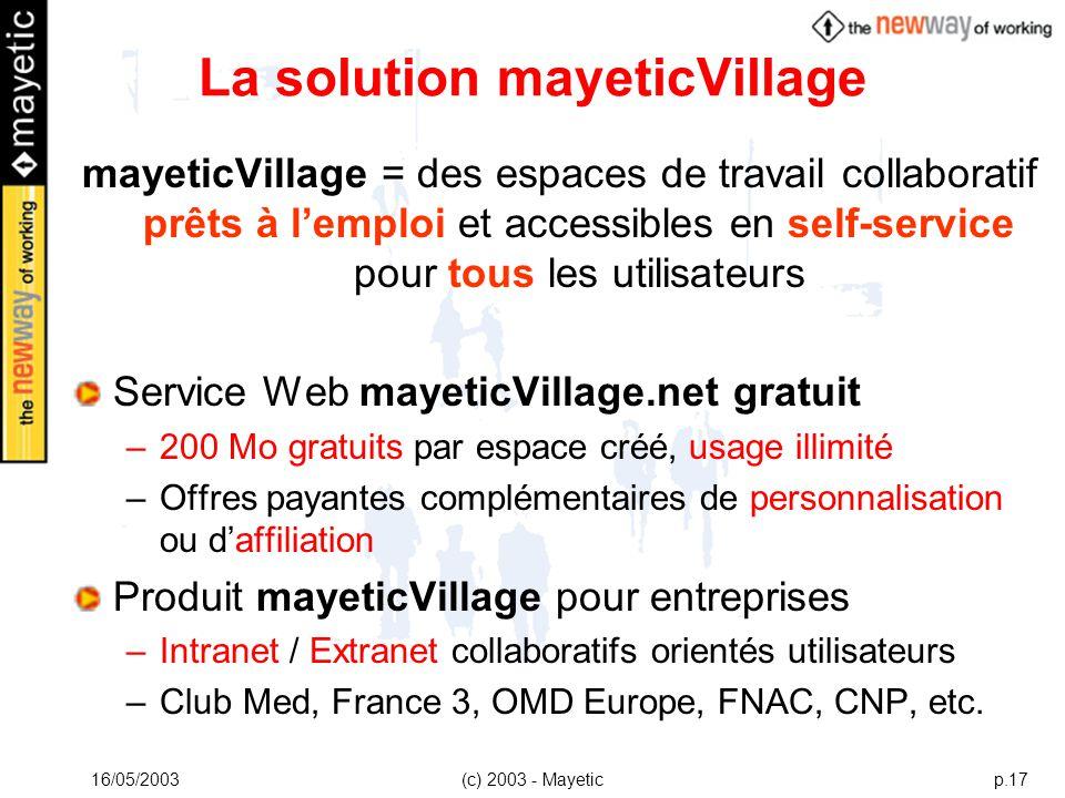 La solution mayeticVillage