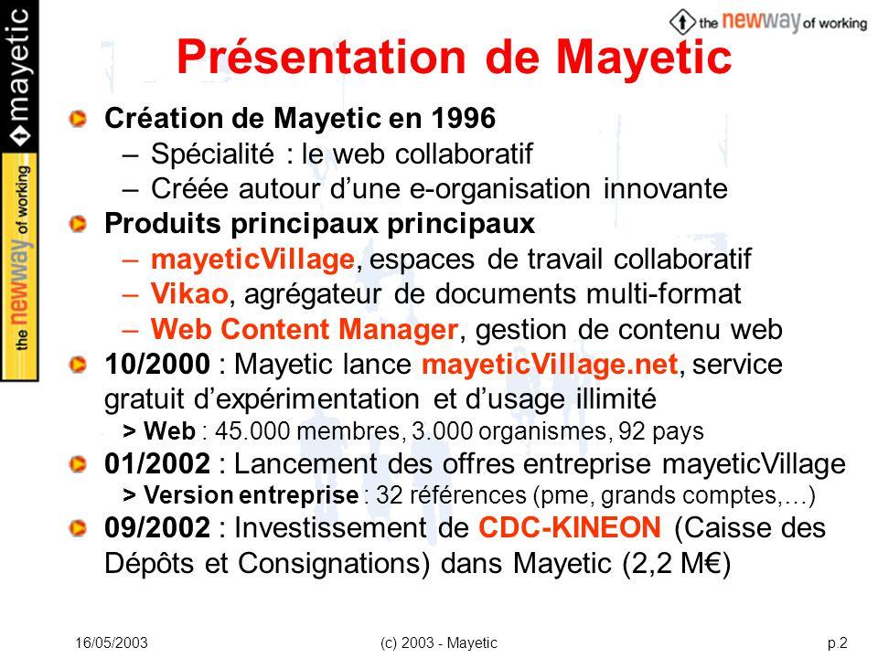 Présentation de Mayetic