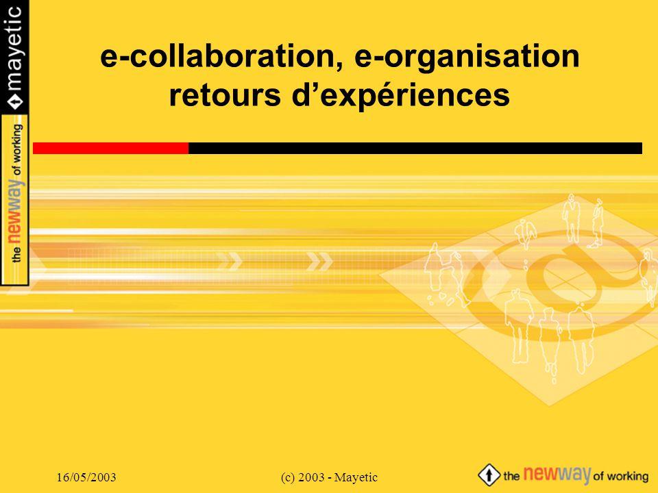 e-collaboration, e-organisation retours d'expériences