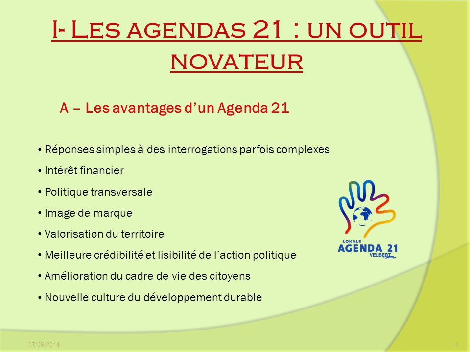 I- Les agendas 21 : un outil novateur