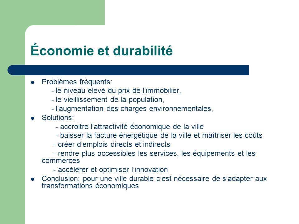Économie et durabilité