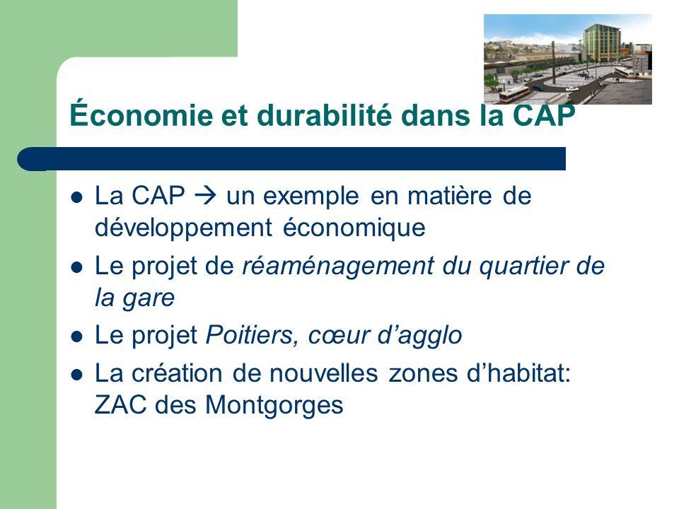 Économie et durabilité dans la CAP