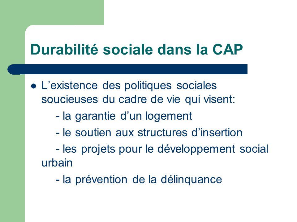 Durabilité sociale dans la CAP