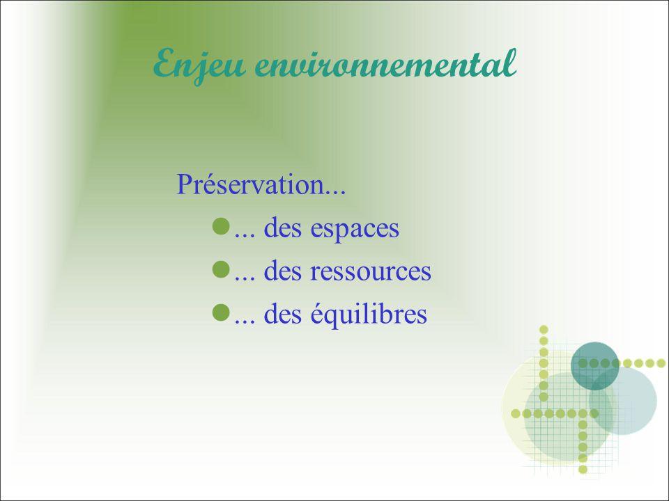 Enjeu environnemental