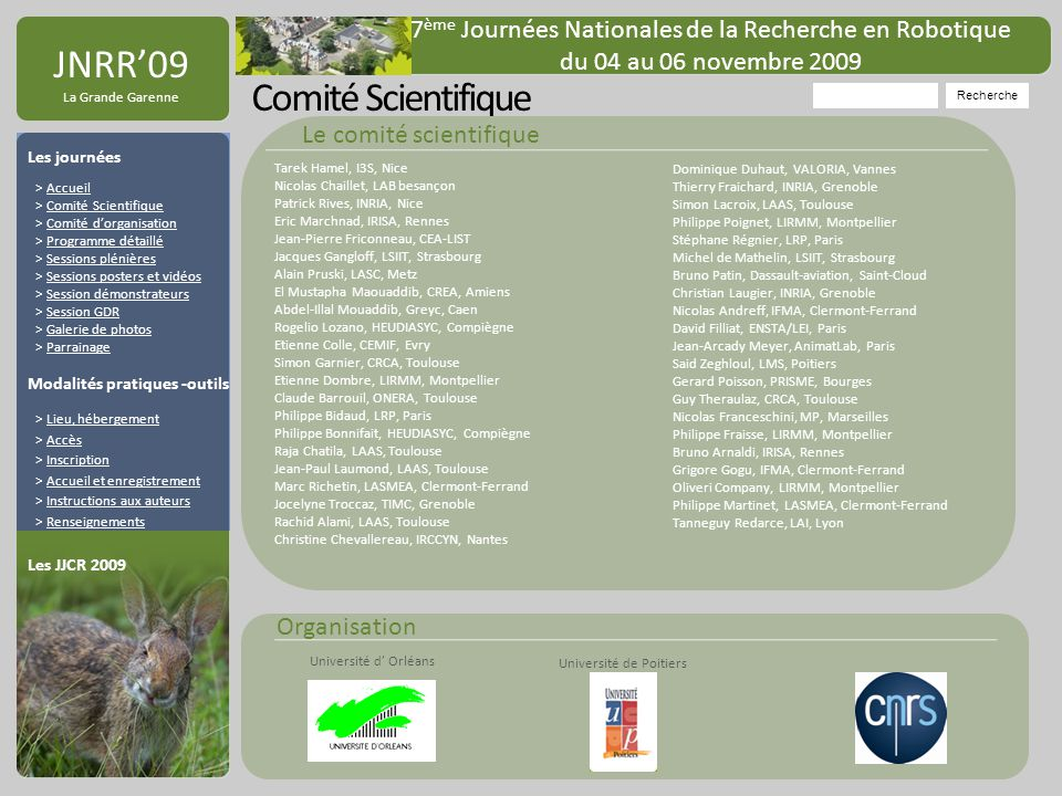 JNRR'09 Comité Scientifique