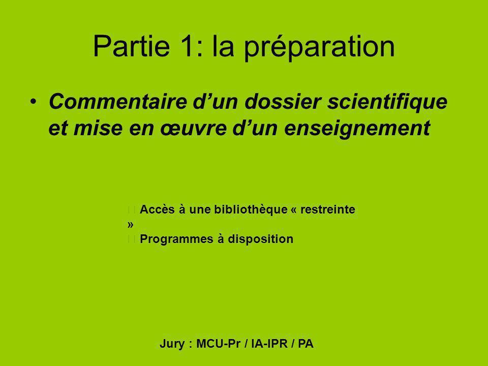 Partie 1: la préparation