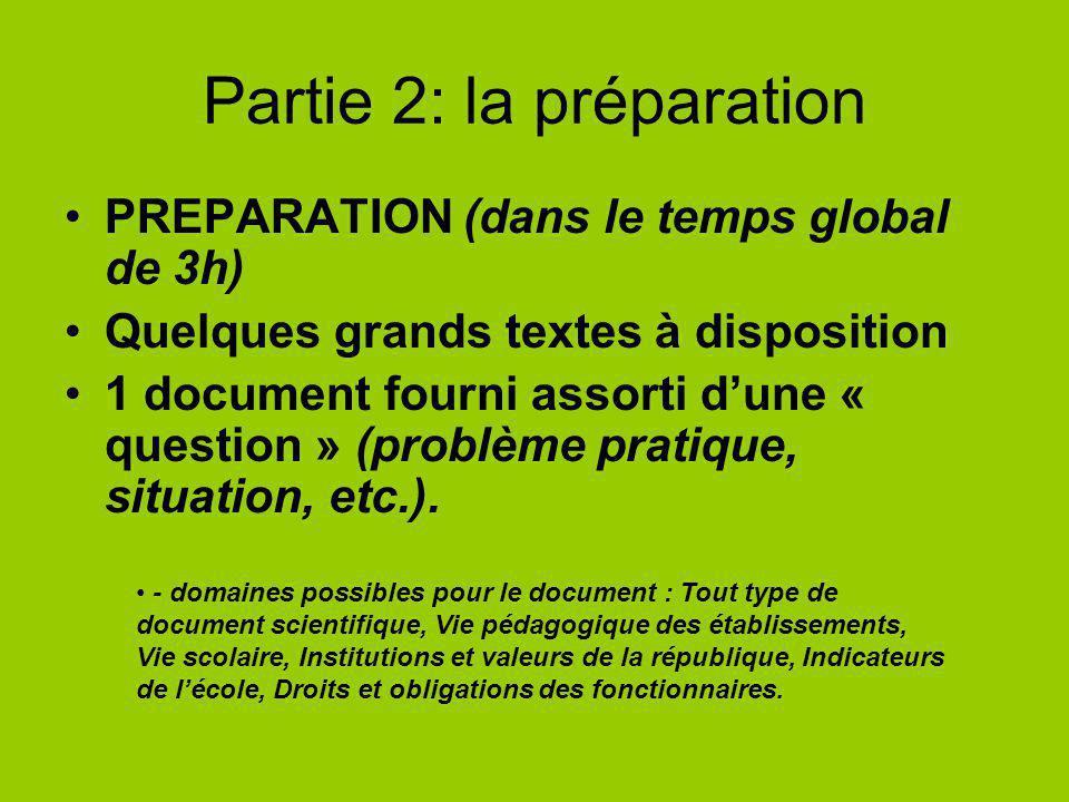 Partie 2: la préparation