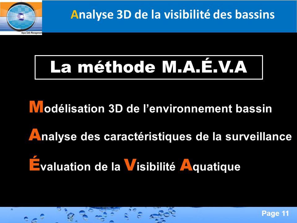 Analyse 3D de la visibilité des bassins