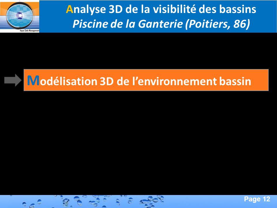 Modélisation 3D de l'environnement bassin