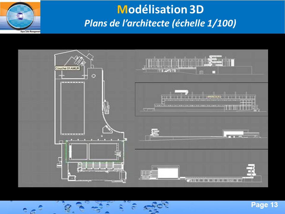 Plans de l'architecte (échelle 1/100)