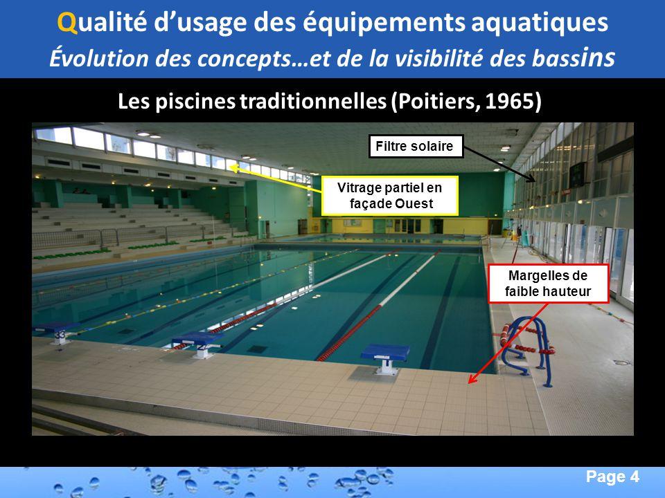 Qualité d'usage des équipements aquatiques