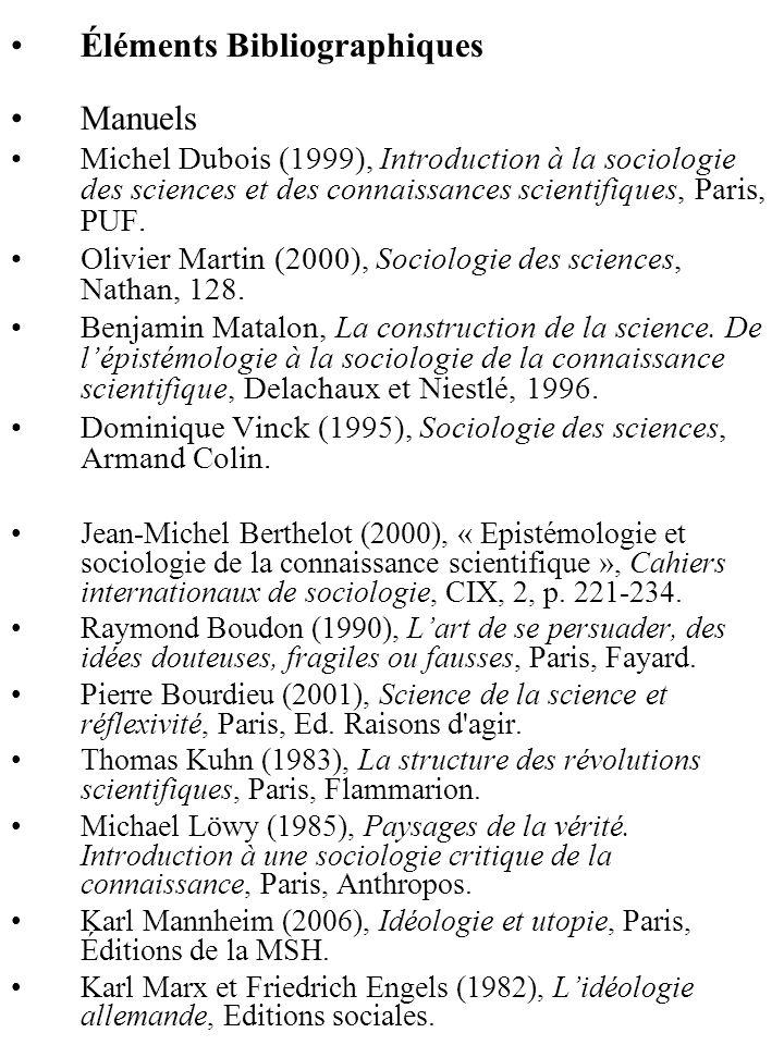 Éléments Bibliographiques Manuels
