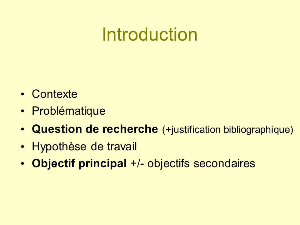 Introduction Contexte Problématique
