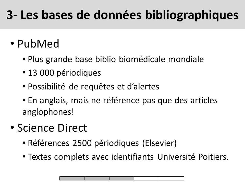 3- Les bases de données bibliographiques