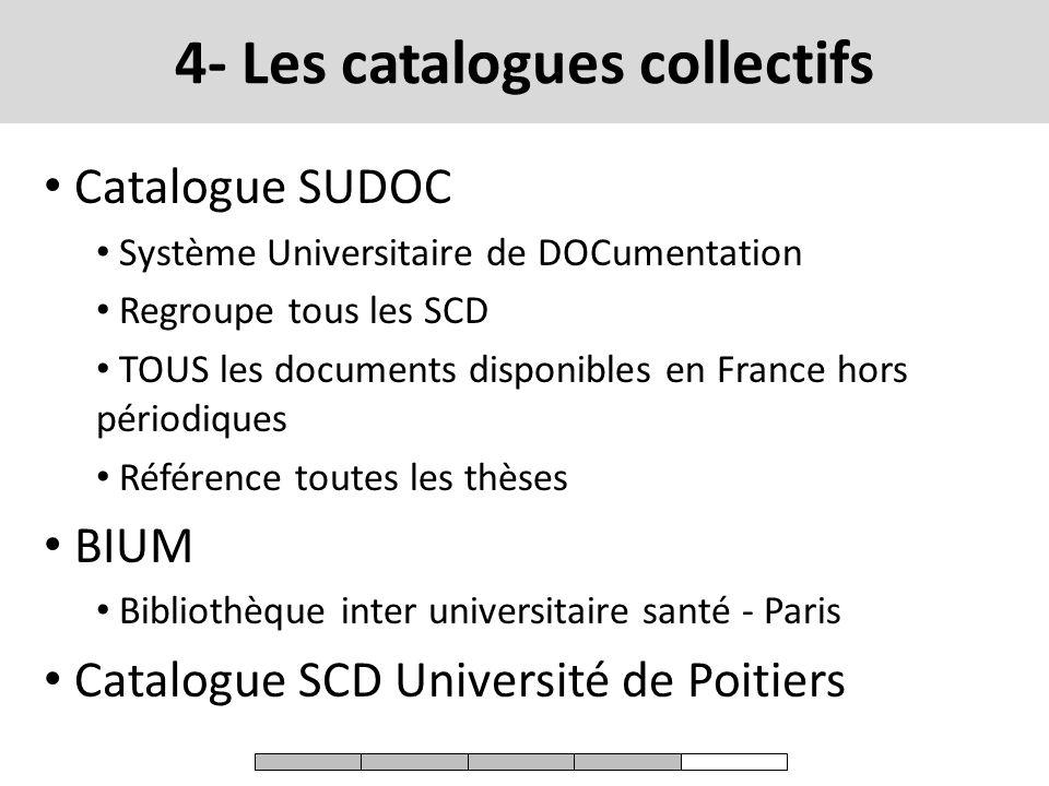 4- Les catalogues collectifs