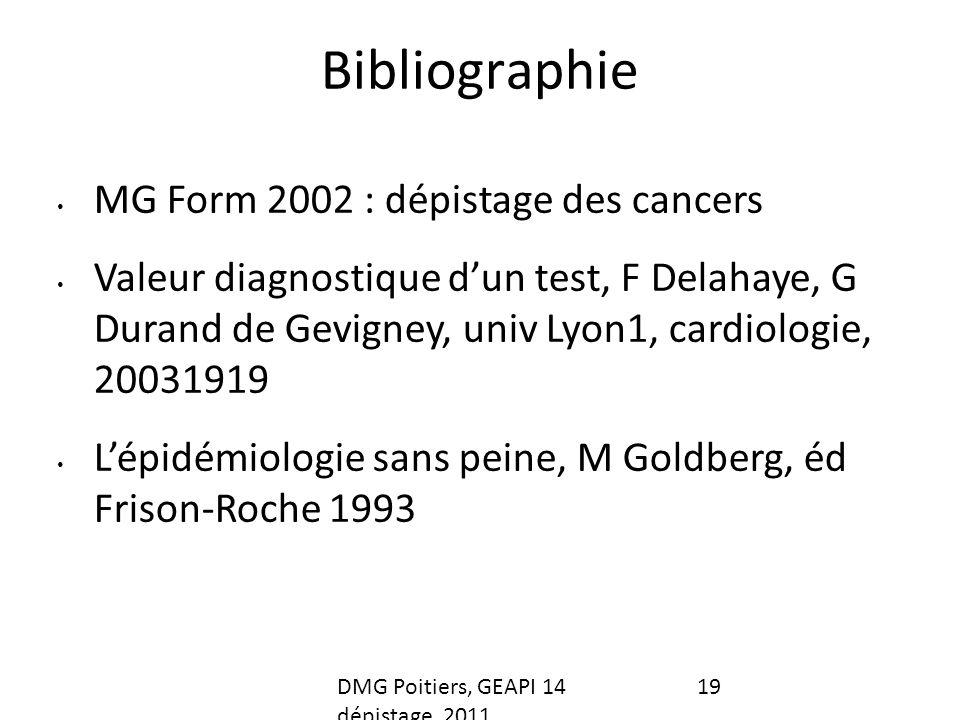Bibliographie MG Form 2002 : dépistage des cancers