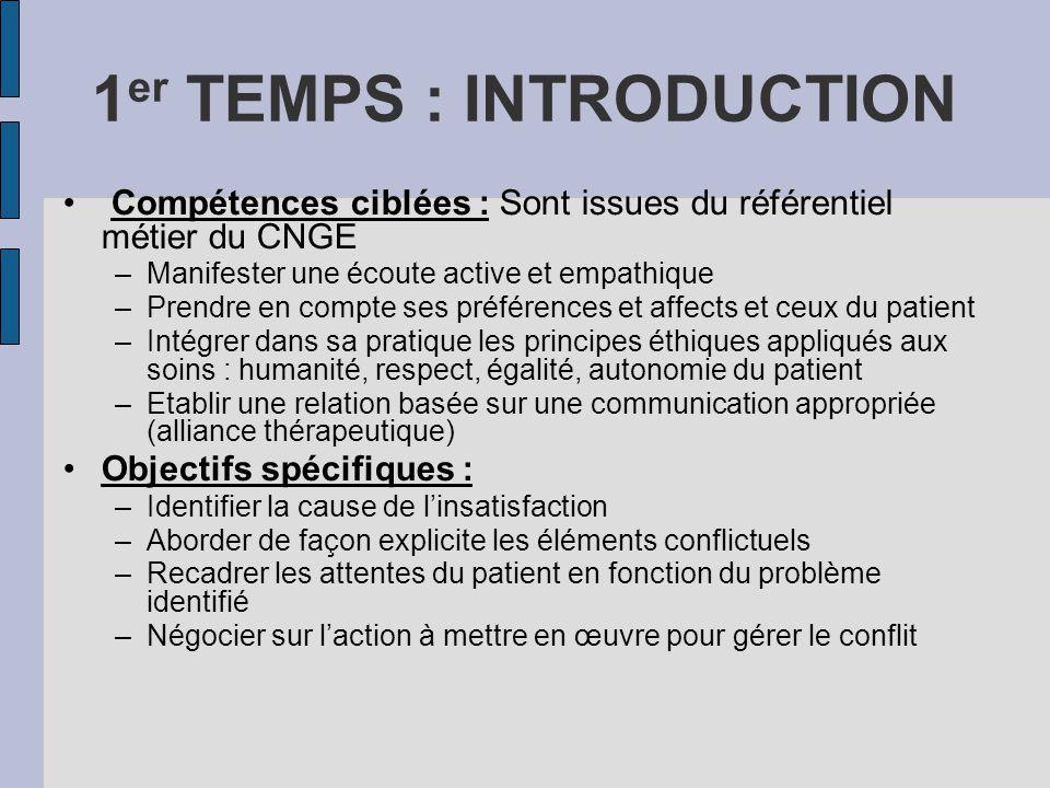 1er TEMPS : INTRODUCTION