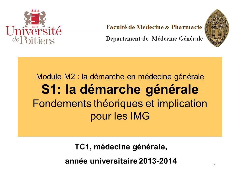 TC1, médecine générale, année universitaire 2013-2014
