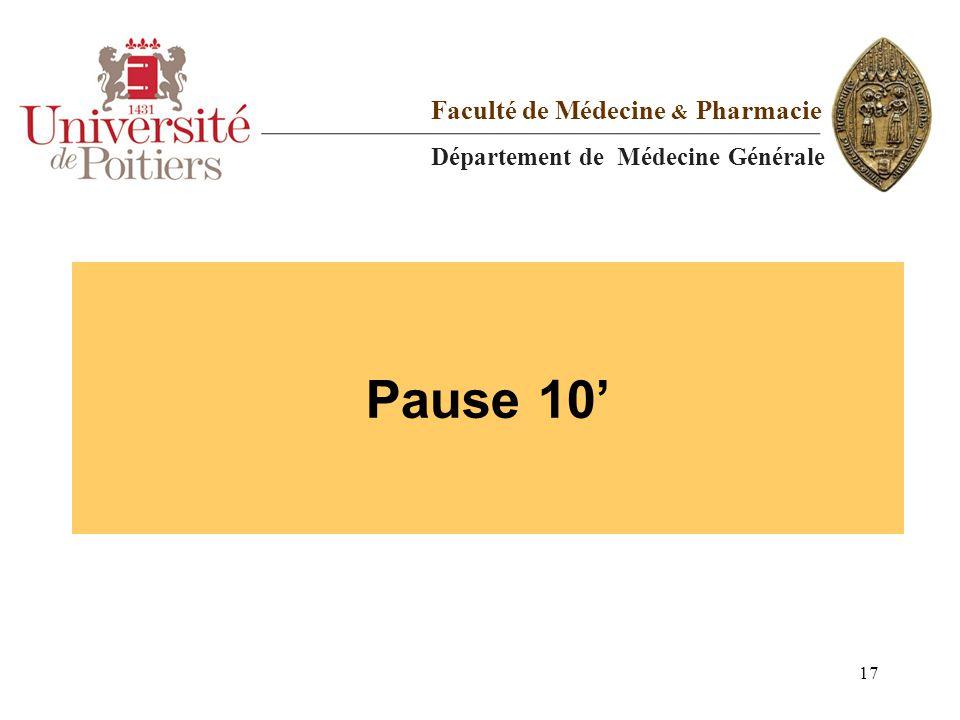 Pause 10' Faculté de Médecine & Pharmacie