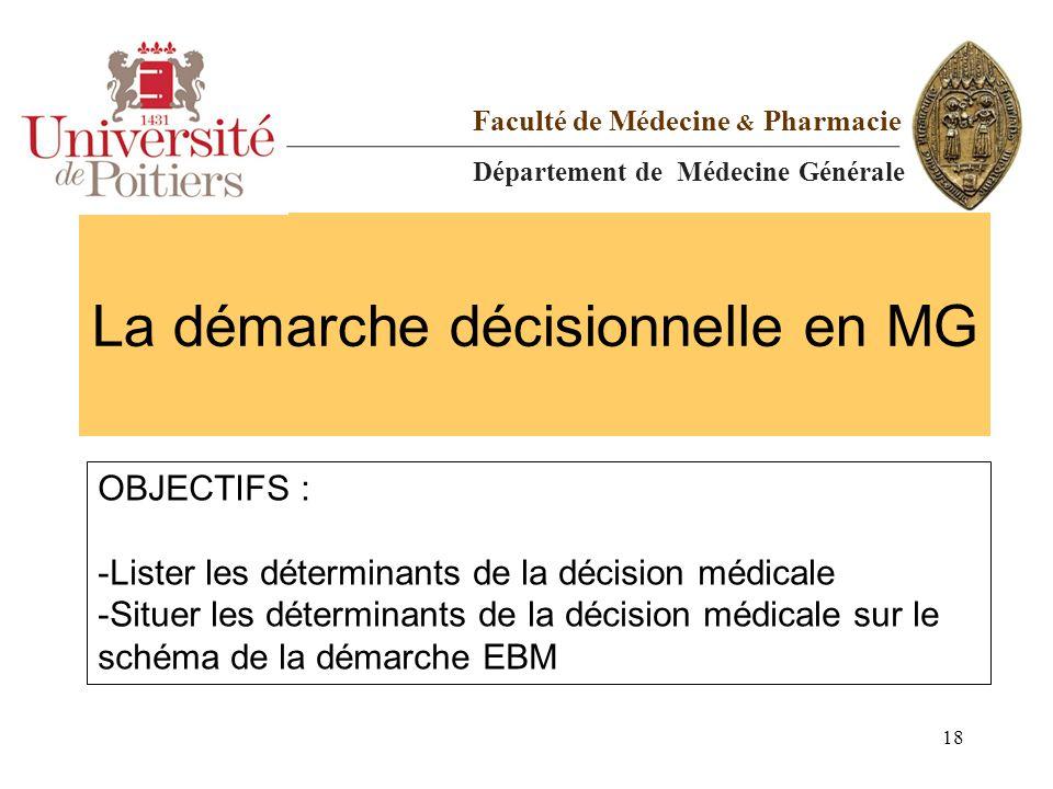 La démarche décisionnelle en MG