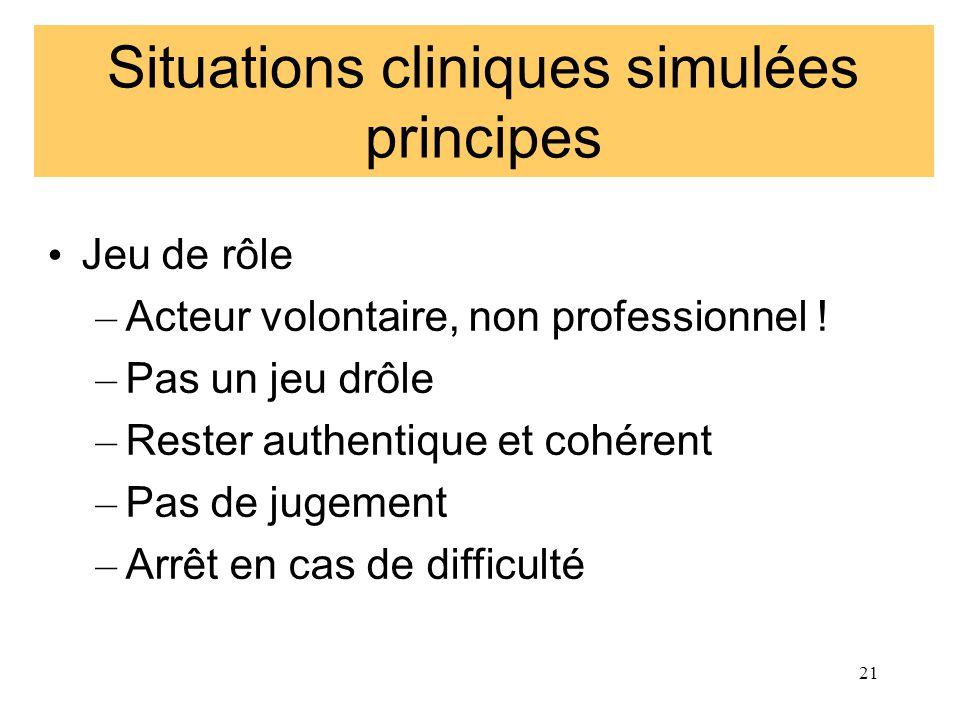 Situations cliniques simulées