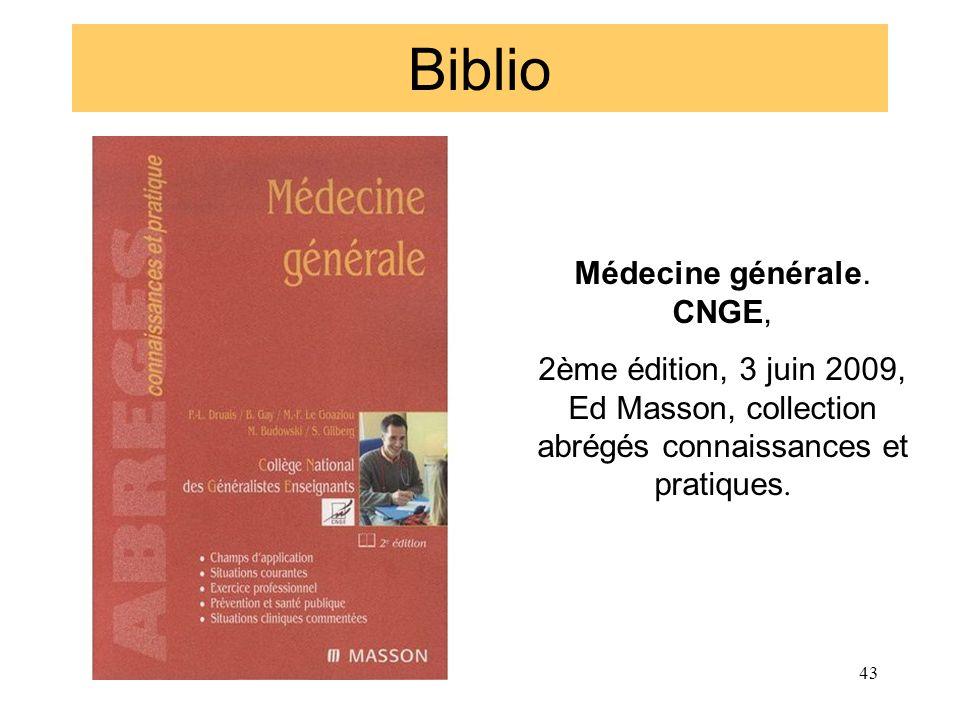 Médecine générale. CNGE,