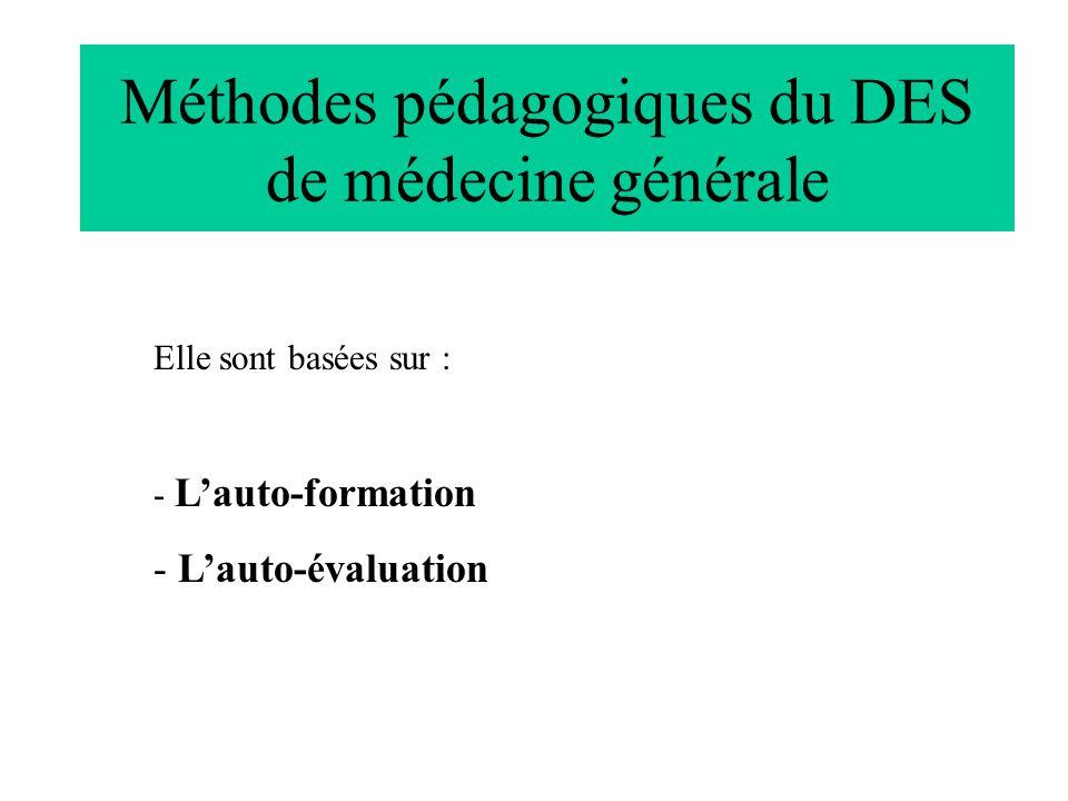 Méthodes pédagogiques du DES de médecine générale