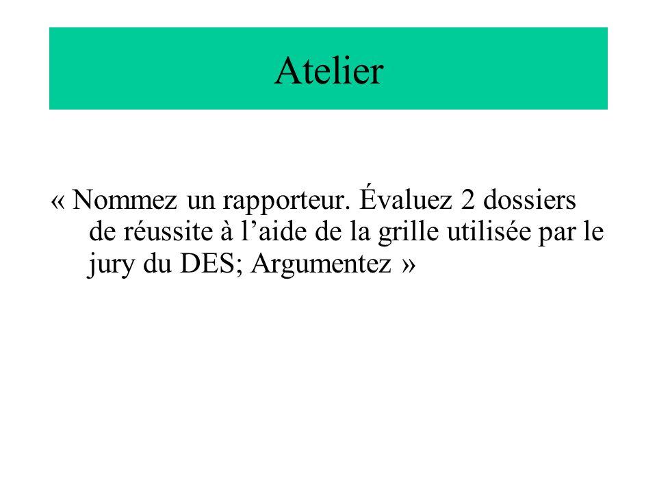 Atelier « Nommez un rapporteur.