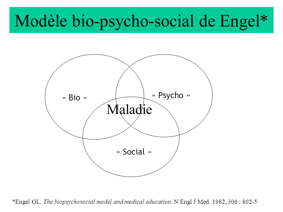 Modèle bio-psycho-social de Engel*