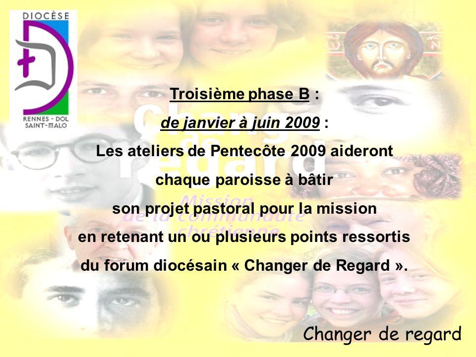 Changer de regard Troisième phase B : de janvier à juin 2009 :