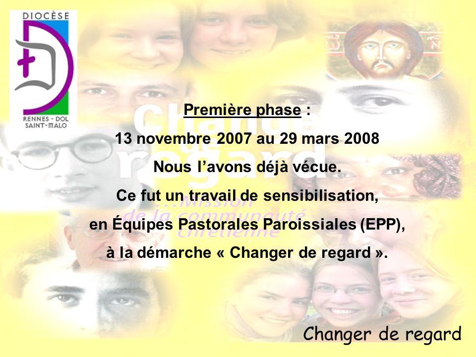 Changer de regard Première phase : 13 novembre 2007 au 29 mars 2008