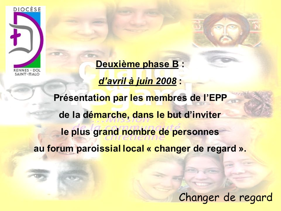 Changer de regard Deuxième phase B : d'avril à juin 2008 :