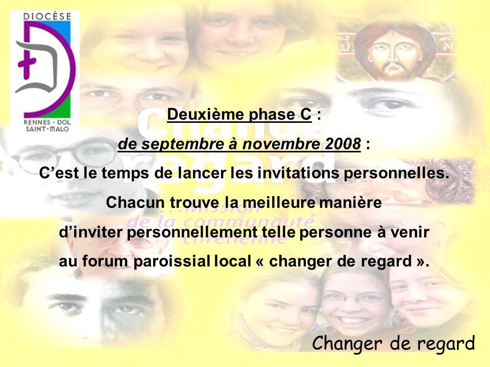 Changer de regard Deuxième phase C : de septembre à novembre 2008 :