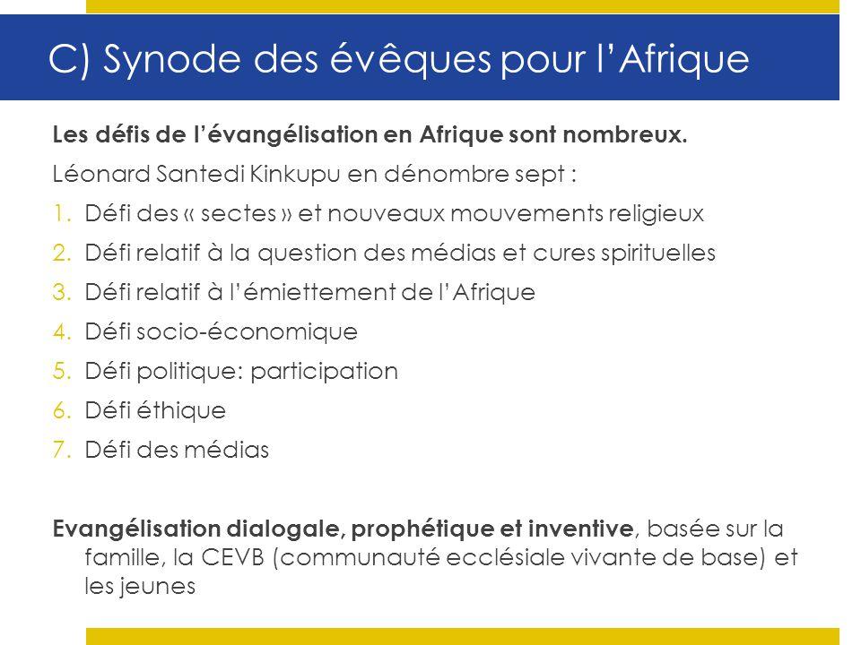 C) Synode des évêques pour l'Afrique