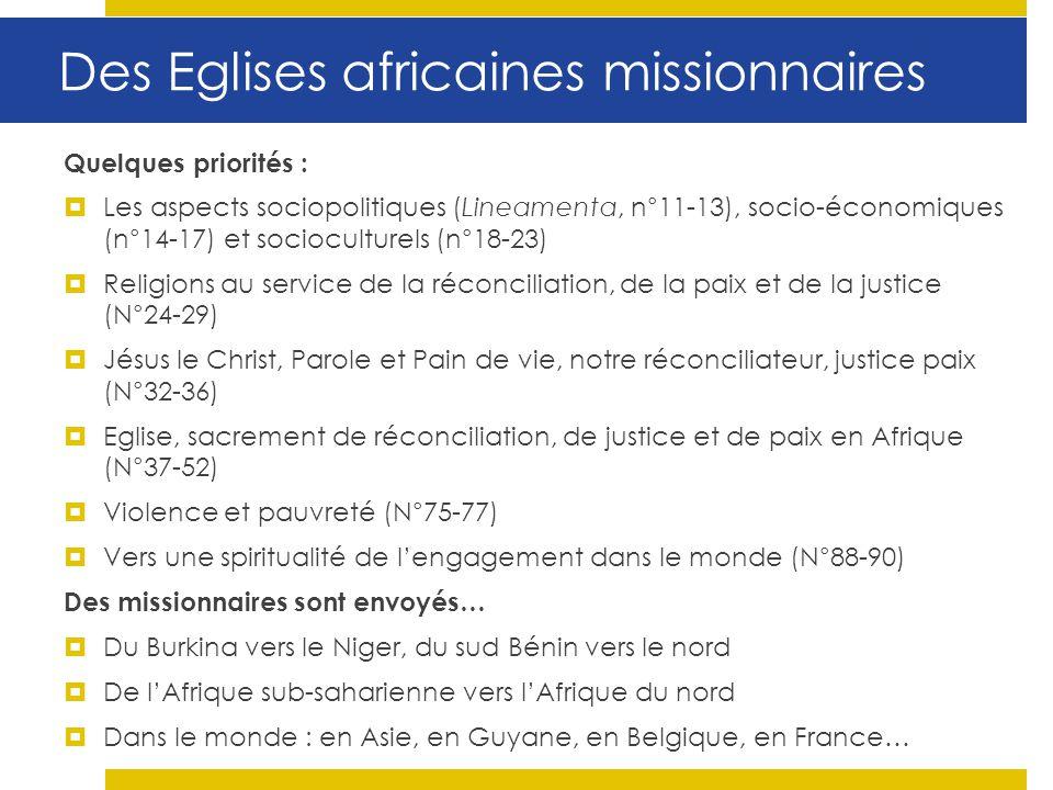 Des Eglises africaines missionnaires