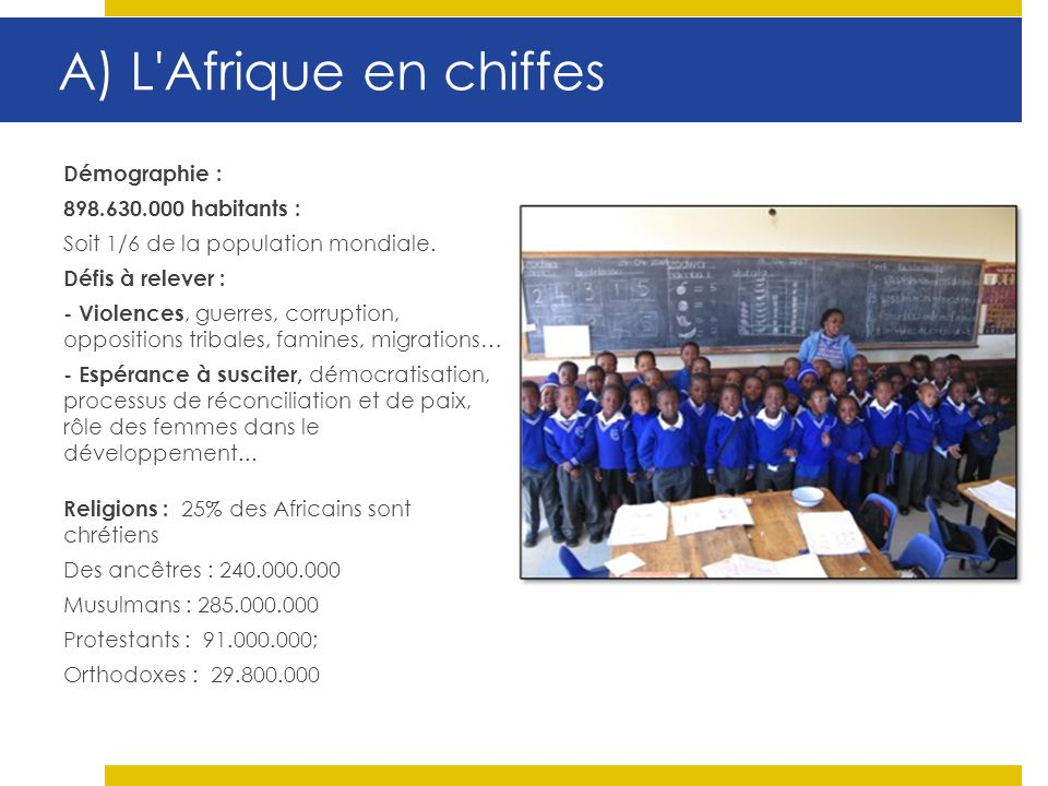 A) L Afrique en chiffes