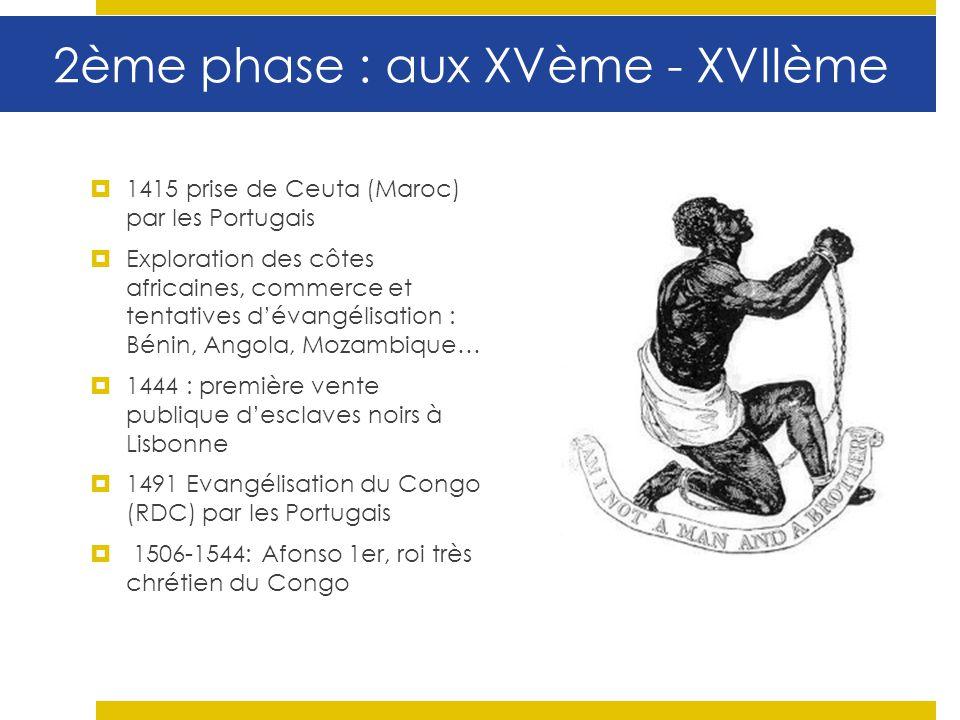 2ème phase : aux XVème - XVIIème