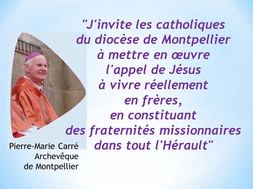 J invite les catholiques du diocèse de Montpellier à mettre en œuvre