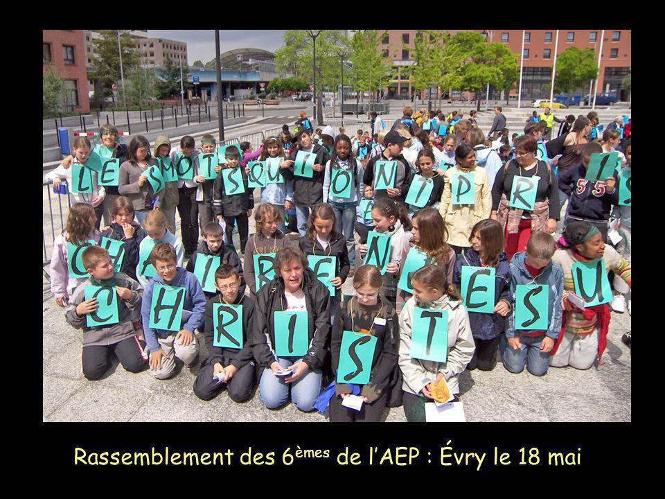 Rassemblement des 6èmes de l'AEP : Évry le 18 mai