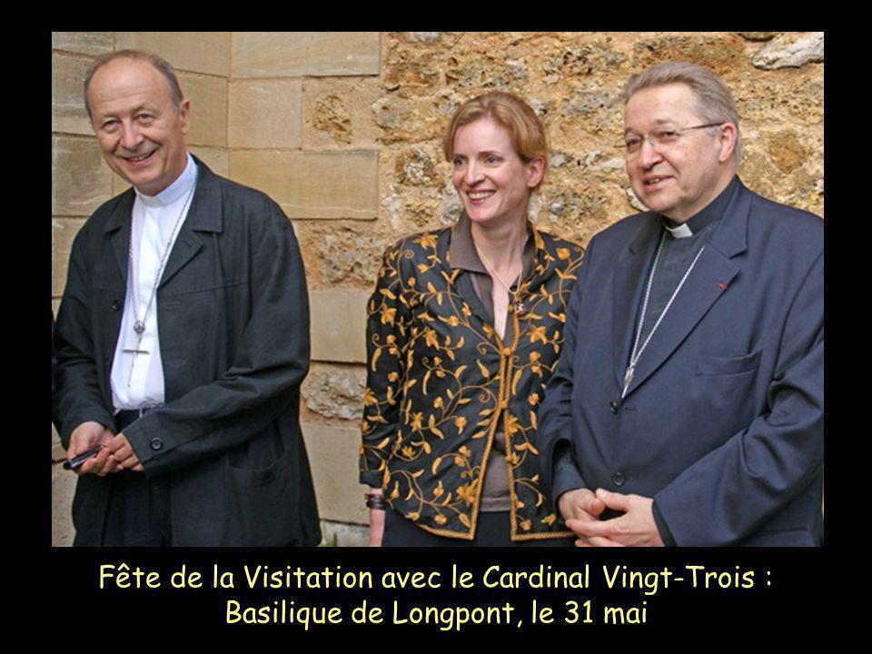 Fête de la Visitation avec le Cardinal Vingt-Trois : Basilique de Longpont, le 31 mai