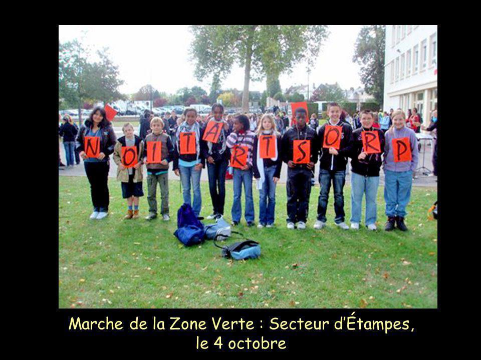 Marche de la Zone Verte : Secteur d'Étampes, le 4 octobre