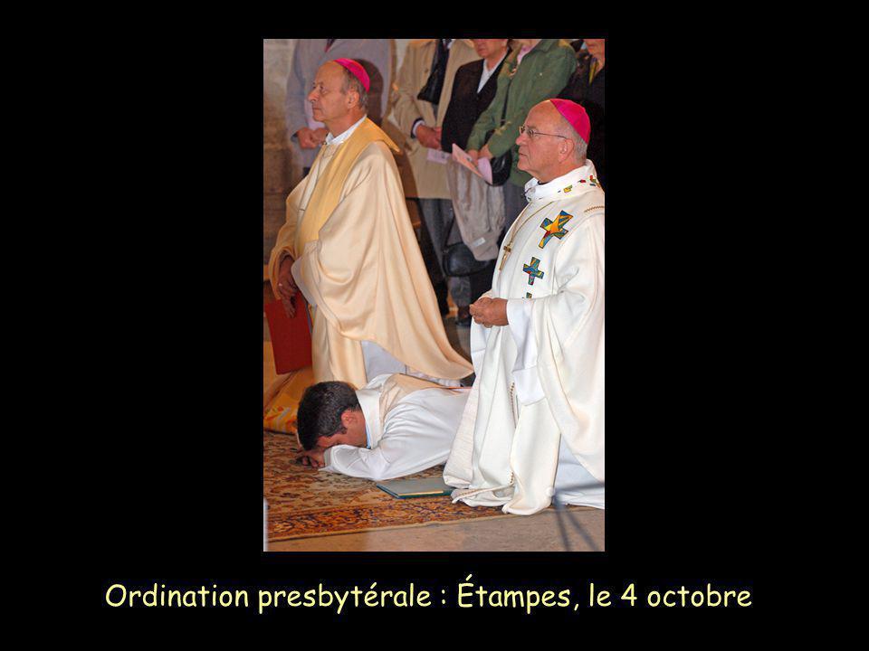 Ordination presbytérale : Étampes, le 4 octobre