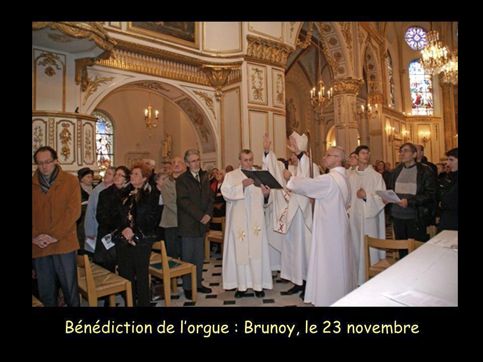 Bénédiction de l'orgue : Brunoy, le 23 novembre