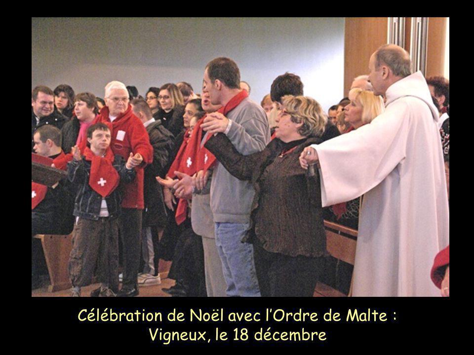 Célébration de Noël avec l'Ordre de Malte : Vigneux, le 18 décembre