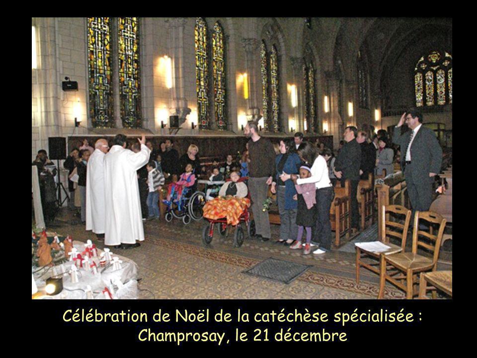 Célébration de Noël de la catéchèse spécialisée : Champrosay, le 21 décembre