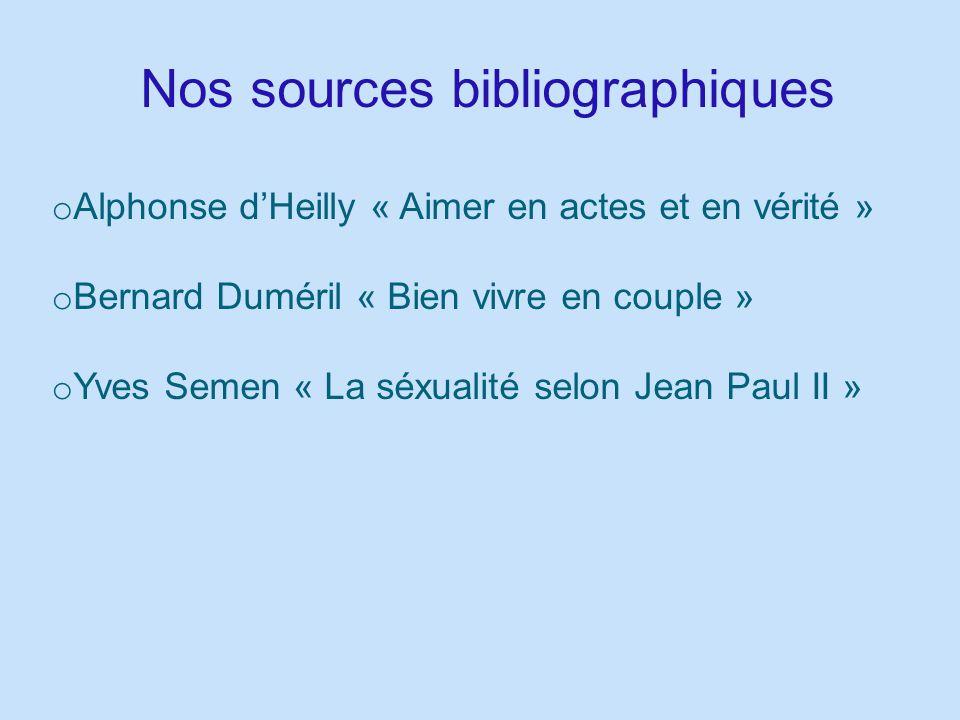 Nos sources bibliographiques