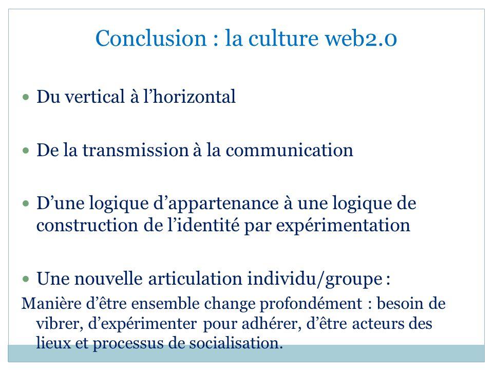 Conclusion : la culture web2.0