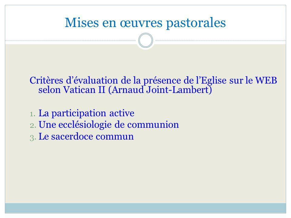 Mises en œuvres pastorales
