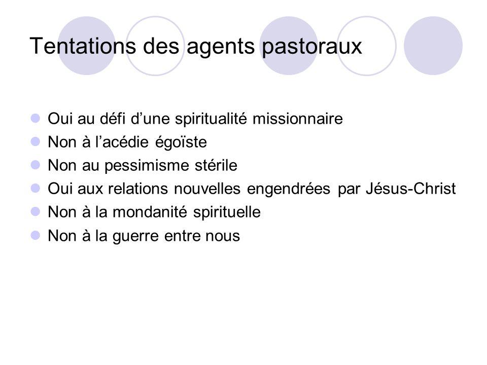 Tentations des agents pastoraux